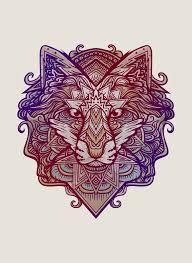 wolf ornament an print by ahmad mujib inprnt