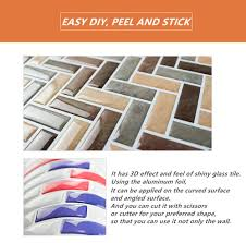 backsplash wall decals self adhesive mosaic tile wall sticker diy kitchen bathroom