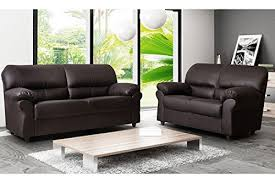 Leather Sofa Suite Deals Brand New Candy 3 2 Faux Leather Sofa Suite In Brown By