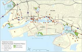 Oakland Ca Map Oakland Alameda Waterfront History Map