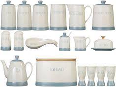 light blue spots tea coffee sugar canisters bone china storage