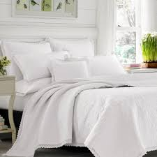 Laura Ashley Bathroom Furniture by Heirloom Crochet Solid White Quilt Set By Laura Ashley