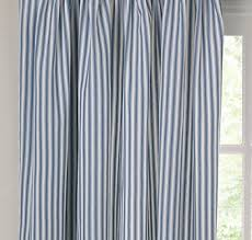 Blue And Striped Curtains Design Ideas Blue And White Striped Curtains Ticking
