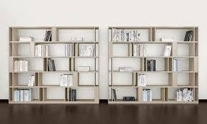 libreria contemporanea libreria bifacciale per zona giorno alto design idfdesign