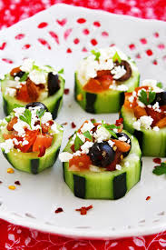 Mediterranean Style Salad Mediterranean Cucumber Cups These Little Cuties Stuffed With A