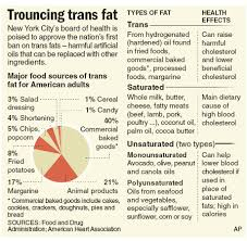 new york city passes trans fat ban health diet and nutrition