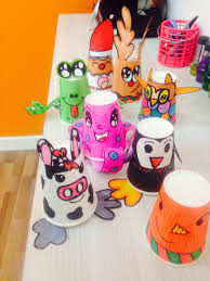 diy papercup animal christmas craft project kids diy pinterest