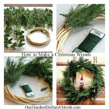 how to make a christmas wreath one hundred dollars a month
