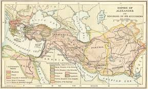 empire of alexander the great map