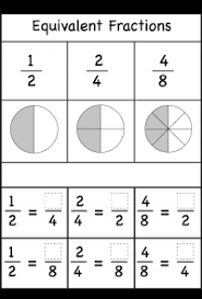 fraction printable worksheets fractions equivalent free printable worksheets worksheetfun