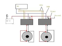 2 amps 2 subs wiring diagram u2013 subwoofers u2013 car audio video