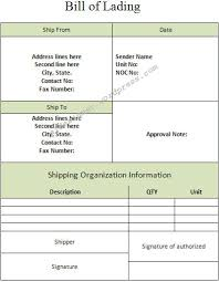 Bill Of Lading Template Excel Lading Bill Sheet Graphics And Templates