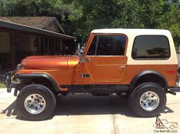 orange jeep cj jeep cj 7 golden eagle excellent condition pro restoration
