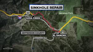 New York Sinkhole Map by Stretch Of U S 40 Closed Due To Large Sinkhole In Road Cbs Denver