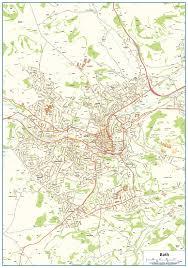 map uk bath bath map 16 99 cosmographics ltd