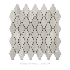 buy natural marble mosaic tile wood light grain mosaic arabesque