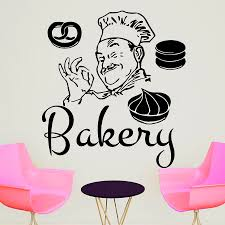 bakery wall stickers promotion shop for promotional bakery wall dctop funny bakery chef wall sticker home decor pvc removable diy decals cakes self adhesive wall decorative