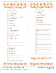 thanksgiving shopping list freebie printable holidays decor