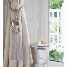 Curtain Tie Backs Anthropologie by Curtain Pull Backs Fringed Tassel Tieback Curtain Gold And White