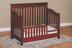 How To Convert Crib Into Toddler Bed Convertible Cribs Amish Custom Furniture