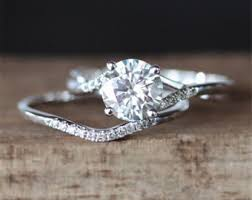 wedding ring set bridal sets etsy