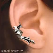 earrings for unpierced ears ear cuff gold brass earring jewelry left or right non