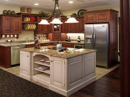 baffling cherry kitchen islands featuring square shape white