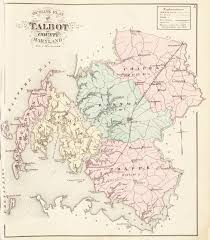 maryland map by county outline talbot dorchester counties an illustrated atlas of talbot