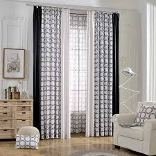 black and white geometric unique funky room divider curtains