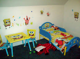 bedroom cool kids bedroom decor with yellow blue accent color and fabulous kids bedroom decor with spongebob bedroom ideas