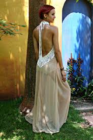 Honeymoon Nightgowns Bohemian Bridal Peacock Fringe Backless By Sarafinadreams On