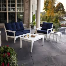 Polywood Patio Furniture by Polywood Vineyard 4 Piece Deep Seating Set Vineyard Collection