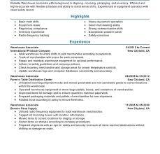 Resume Objective For Warehouse Worker Warehouse Worker Resume Sample Haadyaooverbayresort Com