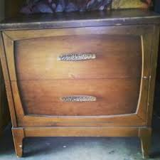 my own coffee house mid century modern nightstand makeover coral