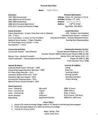 Armed Security Guard Resume Personal Data Sheet Example John U0027s Site