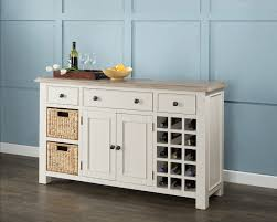 caldecote french grey sideboard with wine rack french grey wine