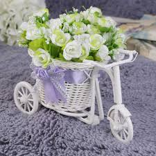 beautiful flower vase reviews online shopping beautiful flower beauty rattan tricycle bike flower basket vase storage garden wedding party decoration office bedroom holding candy gift