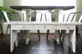 white distressed bench stacy risenmay