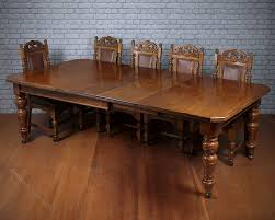 Extendable Dining Table Seats 10 10 Seat Pine U0026 Oak Extending Dining Table C 1895 Antiques Atlas