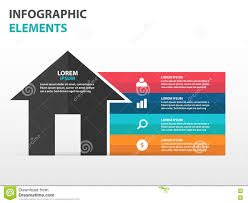 House Flat Design Abstract House Symbol Business Infographics Elements Presentation
