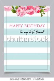 birthday greeting card text happy birthday stock vector 715396453