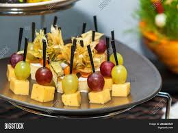 mini canape rows tasty mini canapes brie cheese image photo bigstock