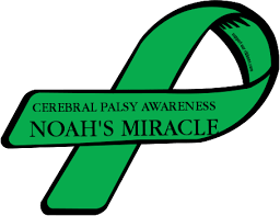 cerebral palsy ribbon custom ribbon cerebral palsy awareness noah s miracle