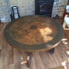 copper bronze effect middle eastern coffee side table egyptian