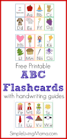 printable abc flashcards for preschoolers simple living mama