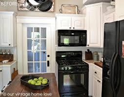 Vintage Galley Kitchen - white galley kitchen with black appliances 43 best white