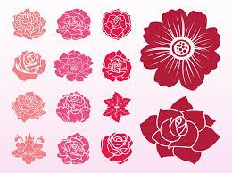 blooming flowers blooming flowers set vector art graphics freevector com