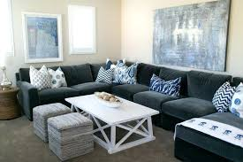 Blue Grey Pillows Sofa Pillow Arrangements For A Cool Look And On
