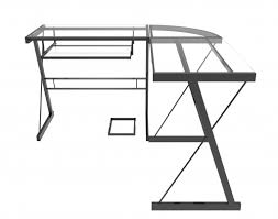 Home Office L Shaped Computer Desk by Madison L Shaped Computer Desk In Black And Clear Glass Within