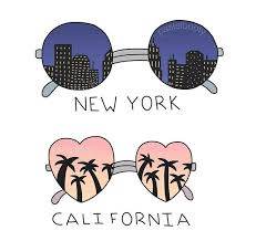 California Travel Stickers images Our long distance marriage nyc to cali new york nomads jpg